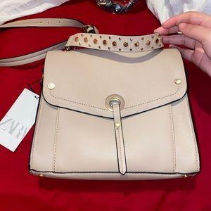 NWT Zara Soft City Bag With Studs